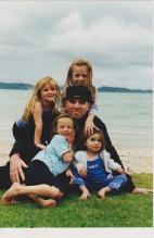 Mark and his darling daughters.